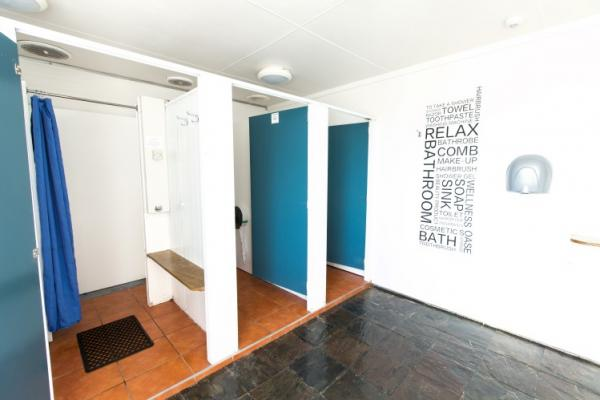 Bathroom facilities at North South Holiday Park